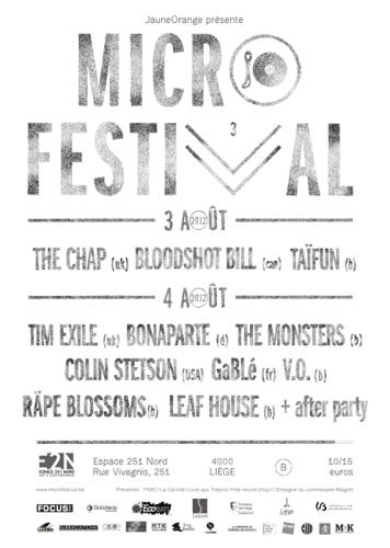 MicroFestival 2012 - 3. und 4. August 2012