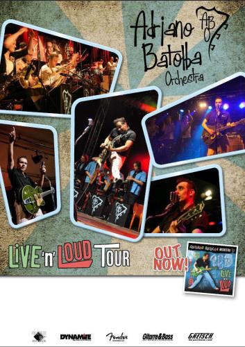 Plakat Adriano Batolba Orchestra Live 'n' Loud Tour