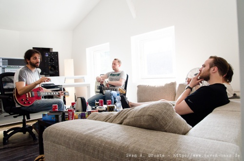 Sky van Hoff, Jón Bjarni Pétursson, Haukur Heiðar Hauksson & Skúli Gestsson / Dikta ( Recording Session im Studio mit Sky van Hoff)